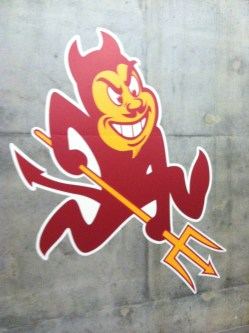The sparky logo located in Taylor Place cafeteria