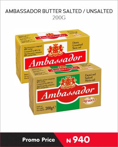 AMBASSADOR BUTTER SALTED-UNSALTED