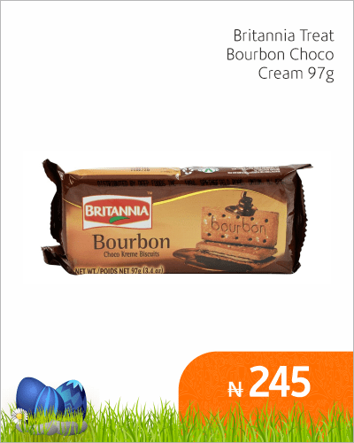 Britannia Treat Bourbon Choco Cream 97g
