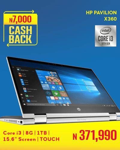 HP Pavilion X360 15.6 screen