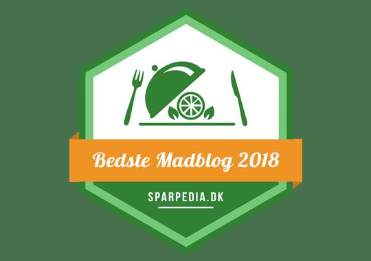 Banner für Bedste Madblog 2018