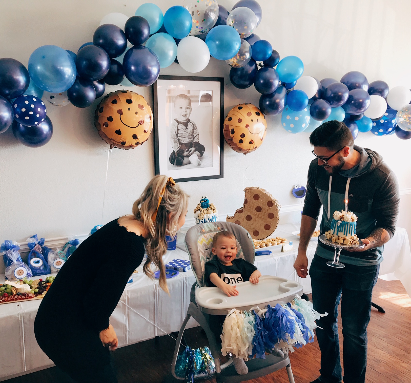 A Cookie Monster First Birthday For Saxon Finn