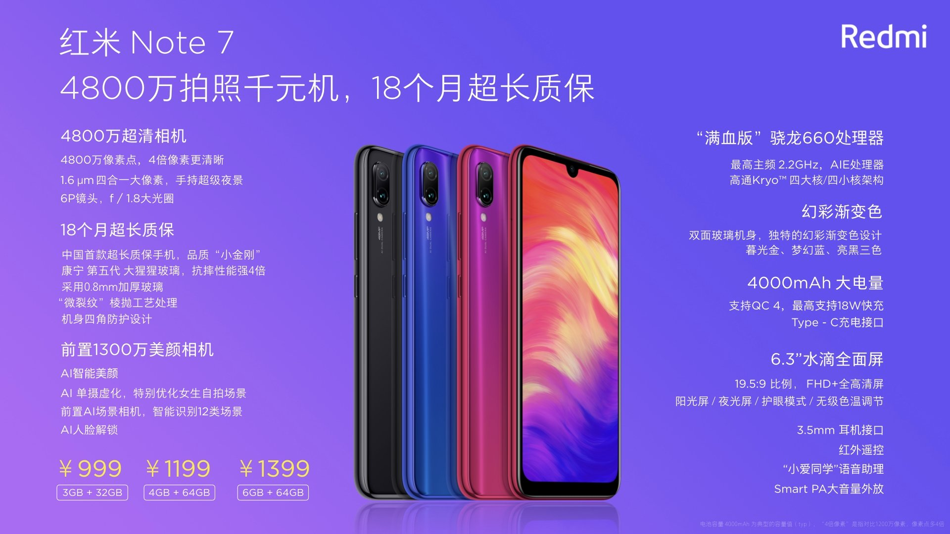 Redmi Note 7 Specifications and Price