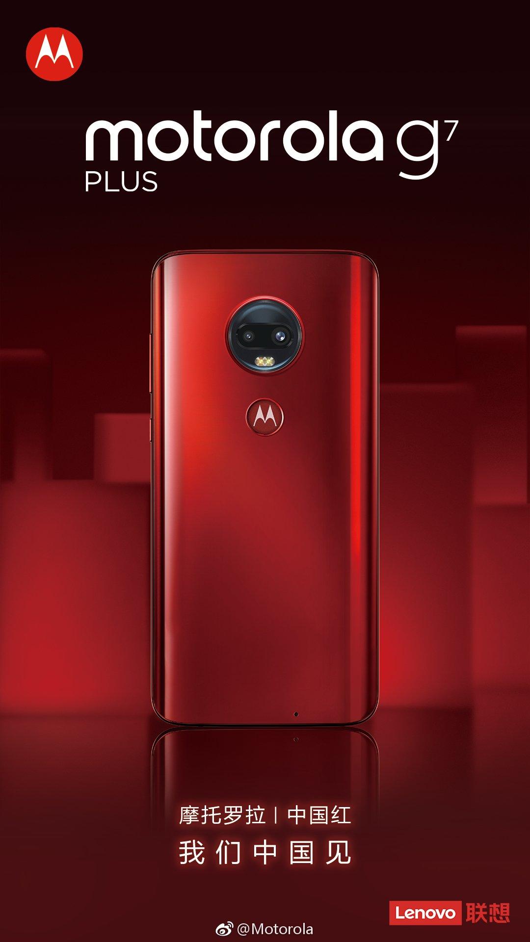 Motorola g7 Plus Chinese Red