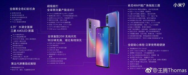 Xiaomi mi 9 Complete Specifications