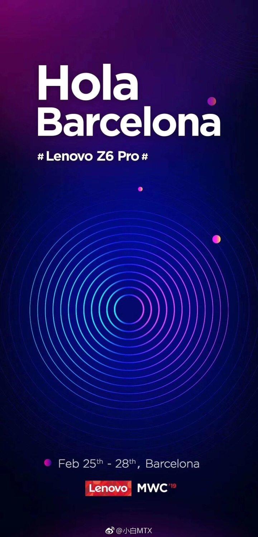 Lenovo Z6 Pro Invitation, lenovo mwc 2019 invitation