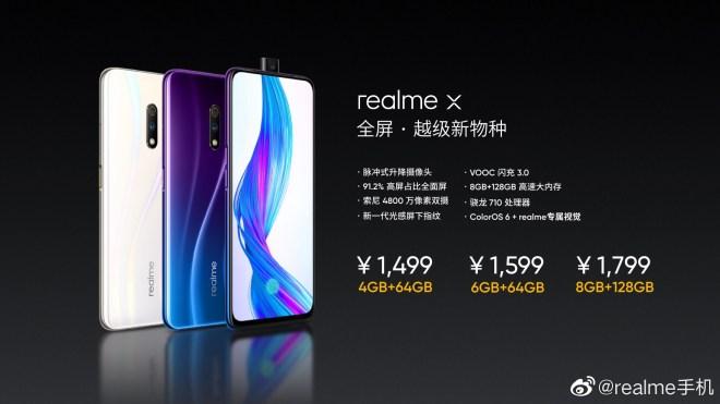 Realme X price