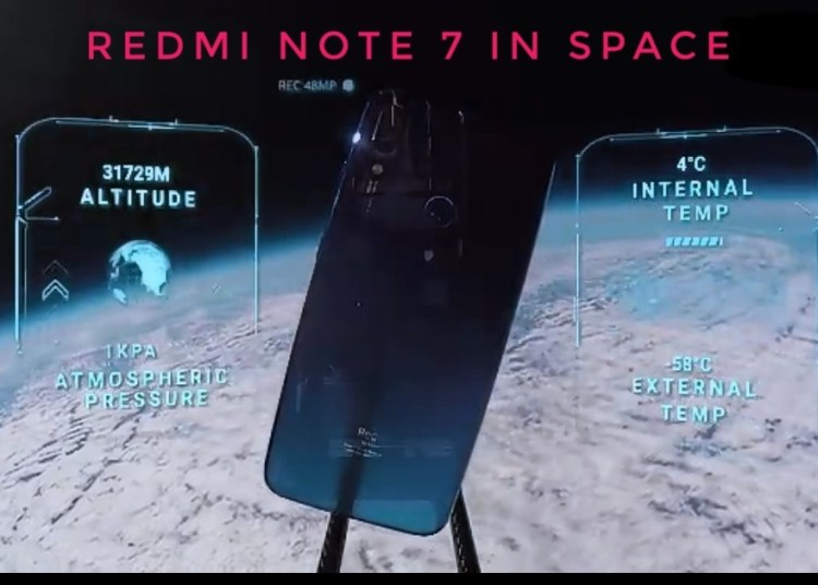 Redmi Note 7 Camera Sample form space