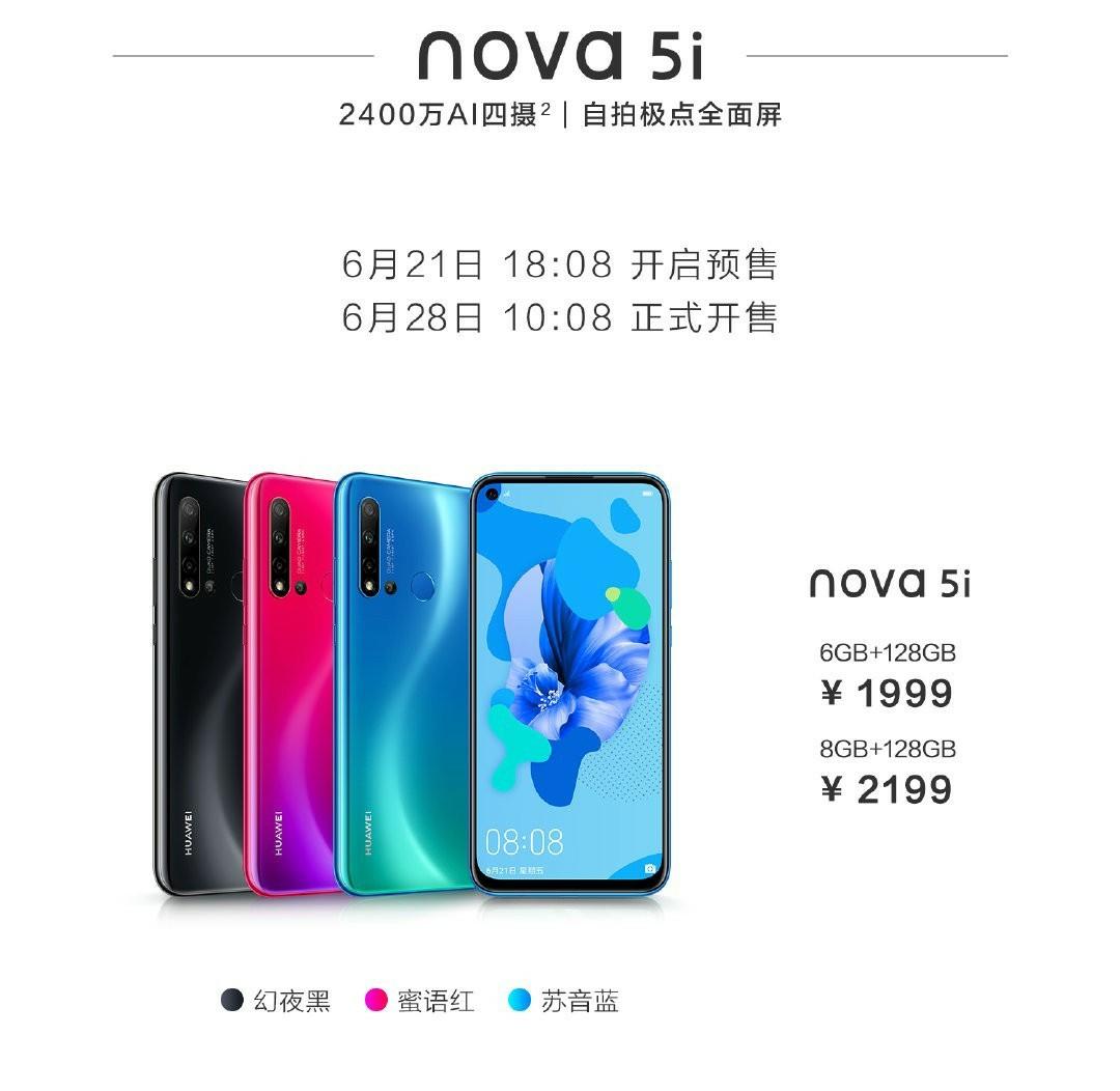 Huawei nova 5i Price