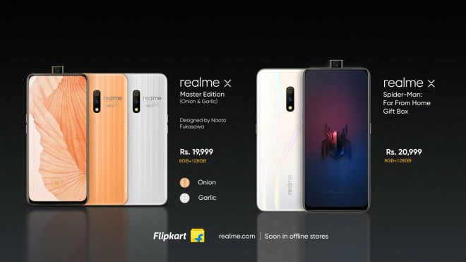 Realme X Spider-Man Edition and master edition Price
