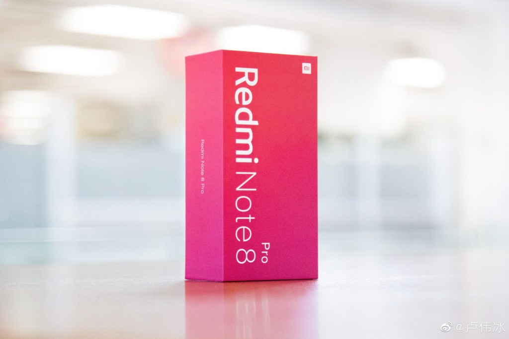 Redmi note 8 pro packaging