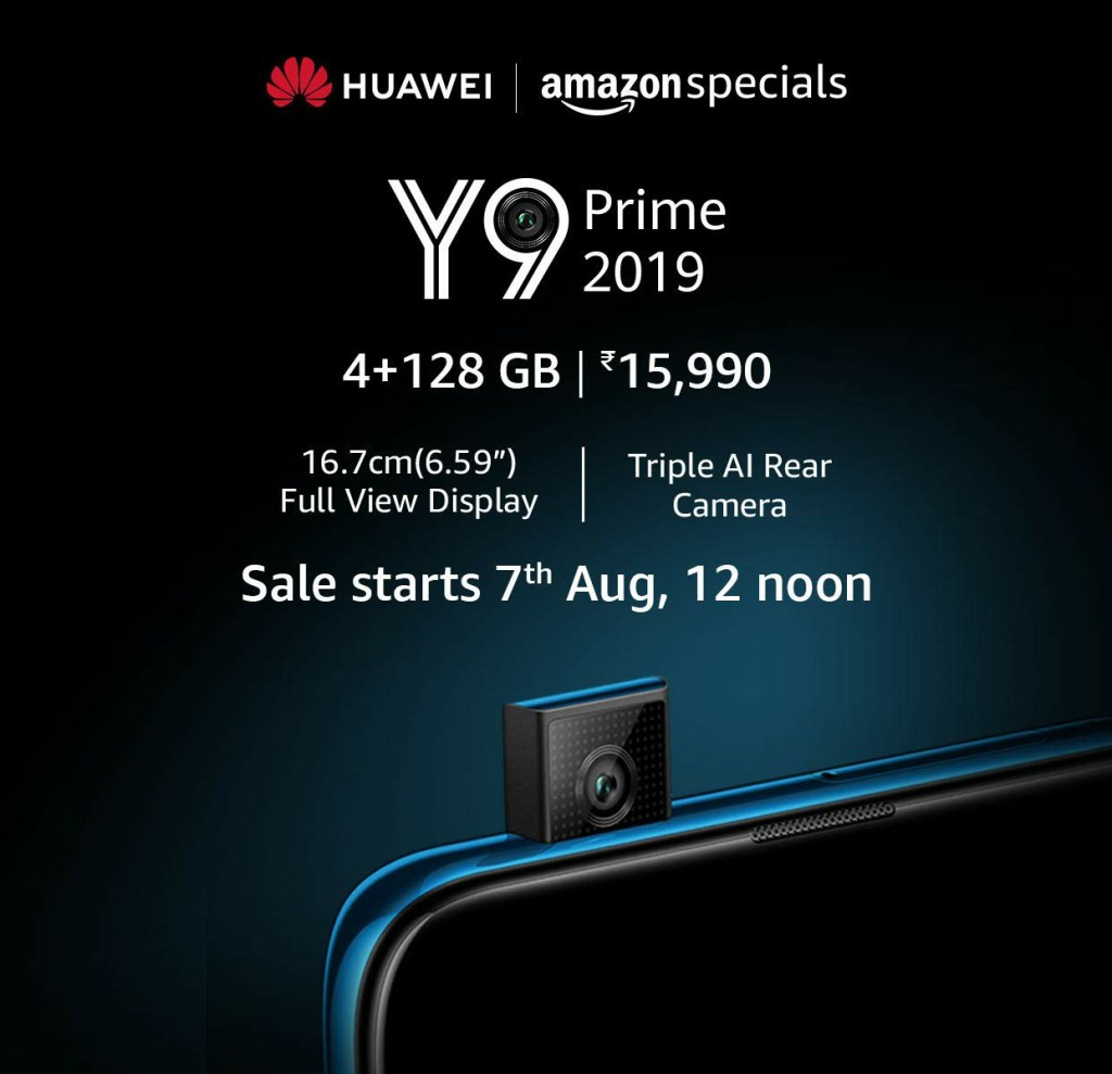 Huawei Y9 Prime 2019 Price in India