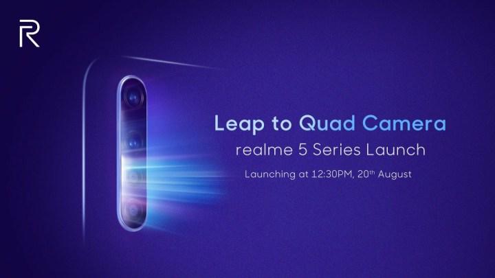 Realme 5 release date in India
