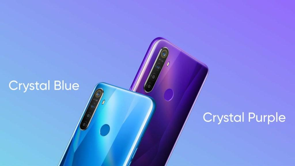 Realme 5 Crystal Blue And Crystal purple
