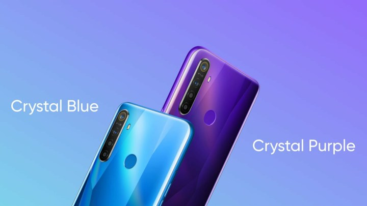 Realme 5 Crystal Blue And Crystal purple