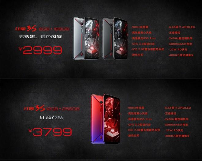 Nubia Red Magic 3s Price