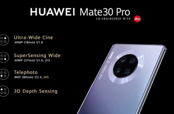 Huawei Mate 30 Pro Camera Set-up