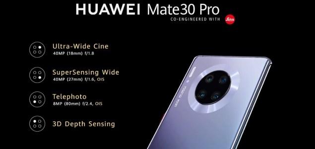 Huawei Mate 30 Pro Camera Set-up