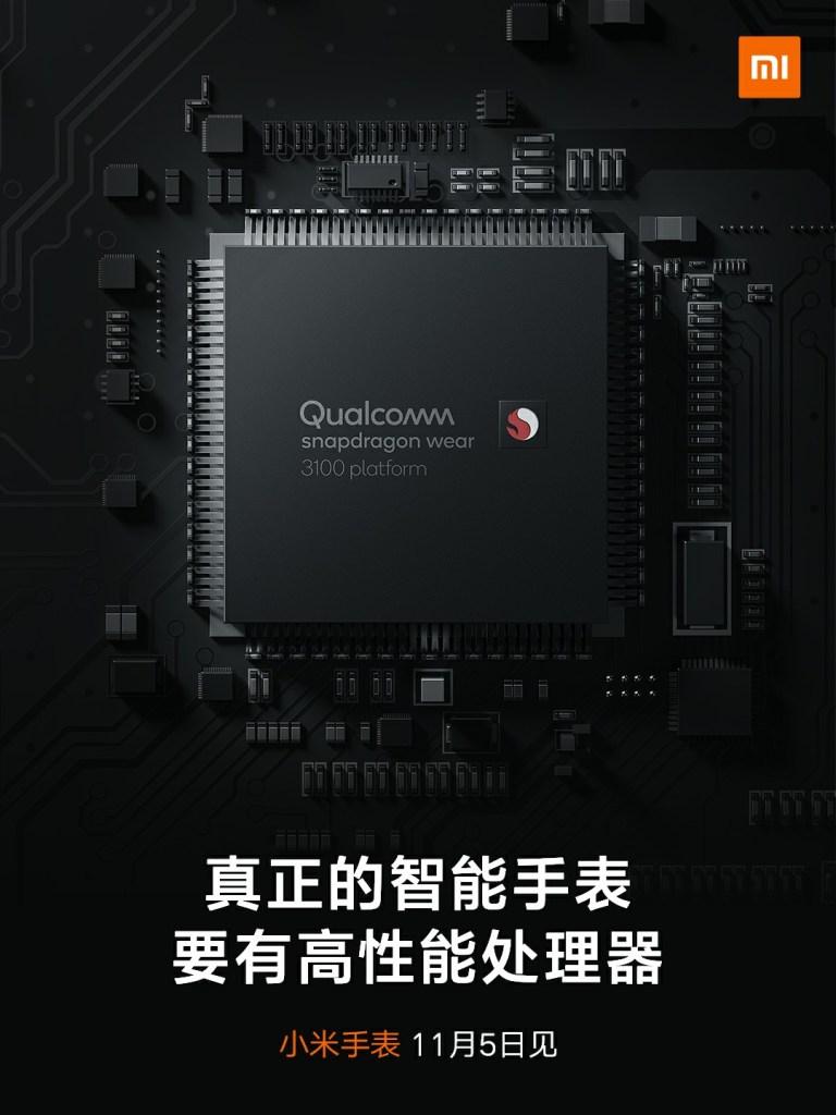 Xiaomi Smart watch, Snapdragon 3100 wear chip