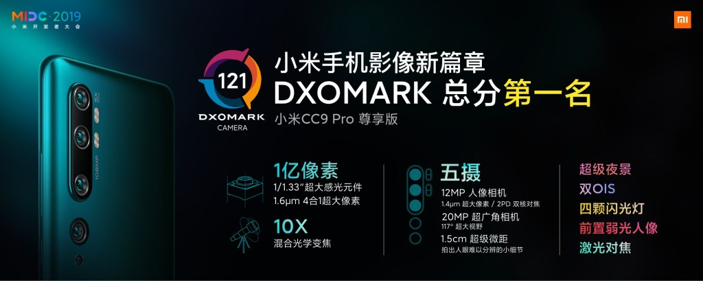Xiaomi CC9 Pro core technology