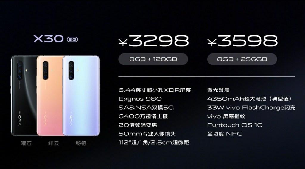 Vivo X30 Price and Specifications, vivo x30 vs x30 pro
