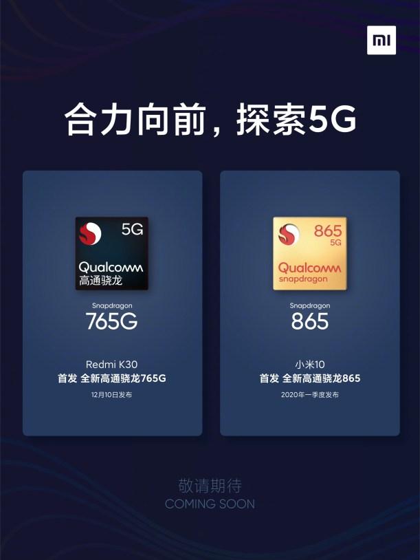 Xiaomi Mi 10 and Redmi K30