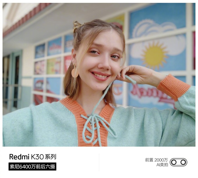 Redmi K30 20 megapixel front camera sample