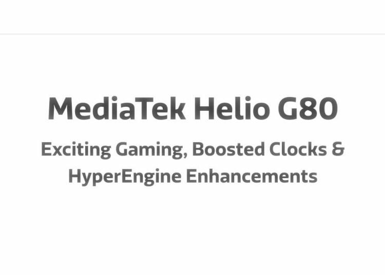 MediaTek G70 vs G80 Comparison