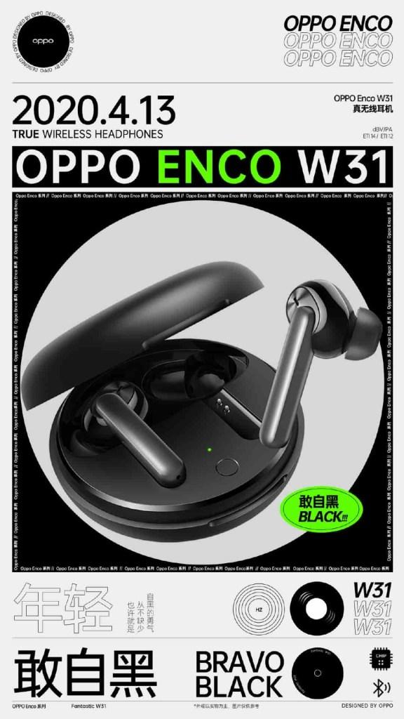 Oppo ENCO W31 black