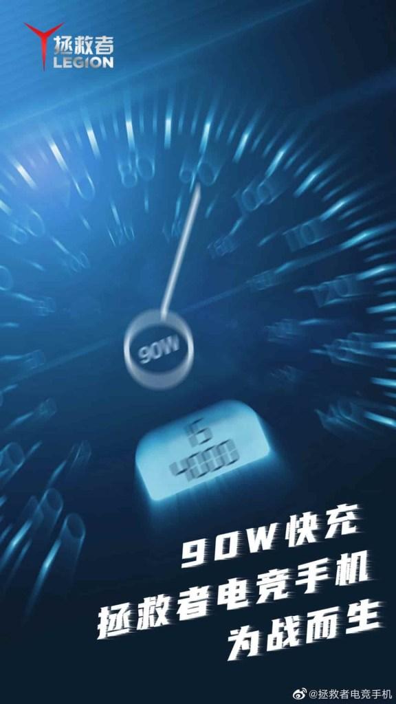90W Fast Charging Speed of lenovo Legion Gaming Phone