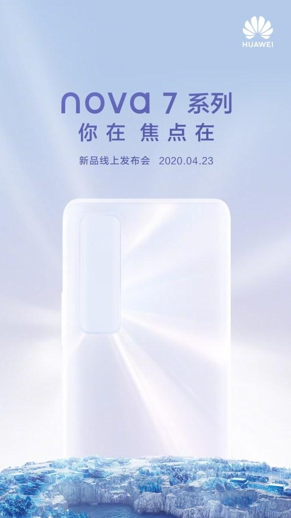 Huawei Nova 7 Series release date