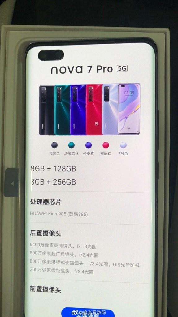 Huawei Nova 7 Pro Live Photos