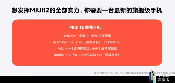 MIUI 12 Featured Device List