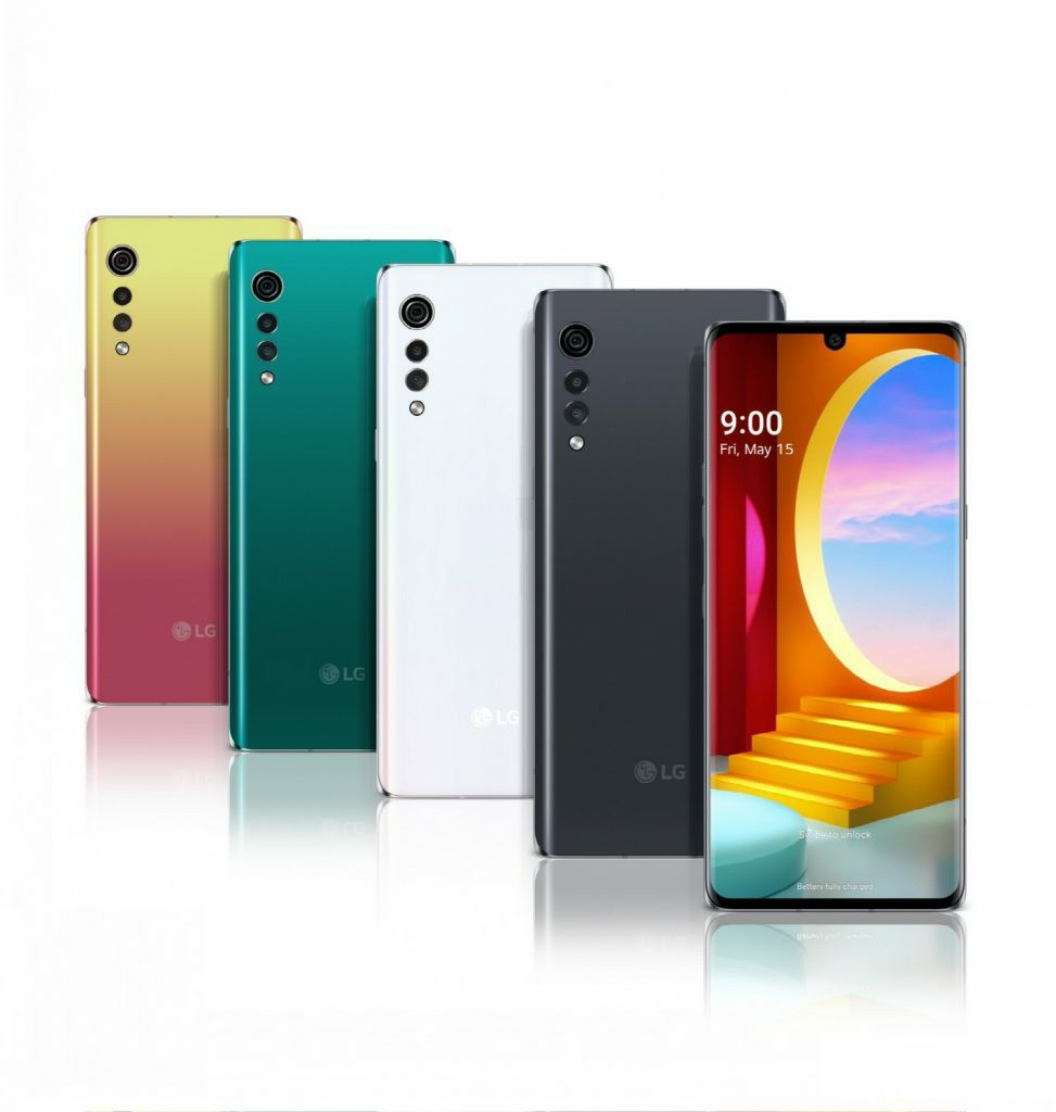 LG Velvet Official Rendering of All Colors