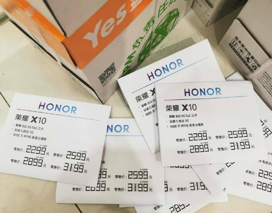Honor X10 Price