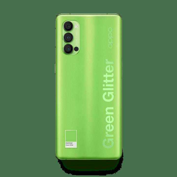 Oppo Reno4 Pro Green Glitter Color