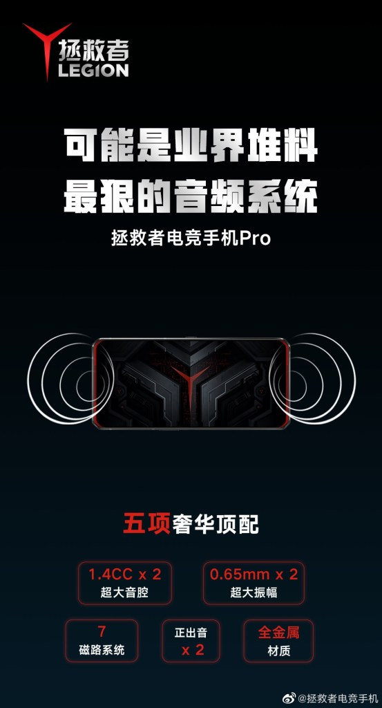 Legion Gaming Phone Pro Audio System