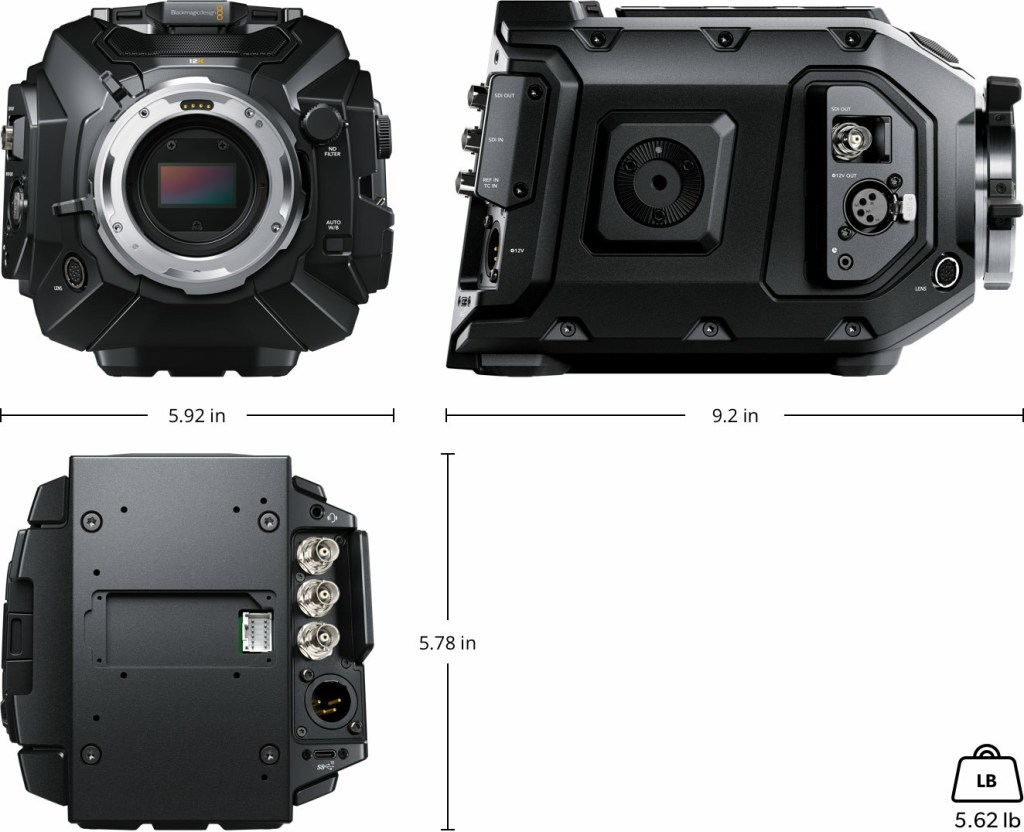 Blackmagic URSA Mini Pro 12K Physical Specifications
