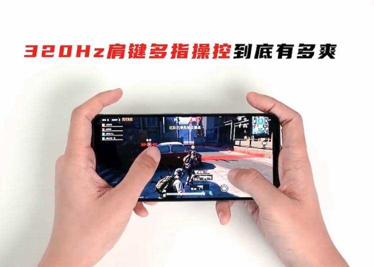 Dual 320Hz Gaming Shoulder Keys, Nubia Red Magic 5S