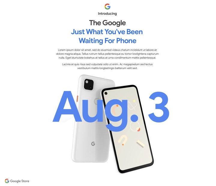 Google Pixel 4a Release Date is August 3