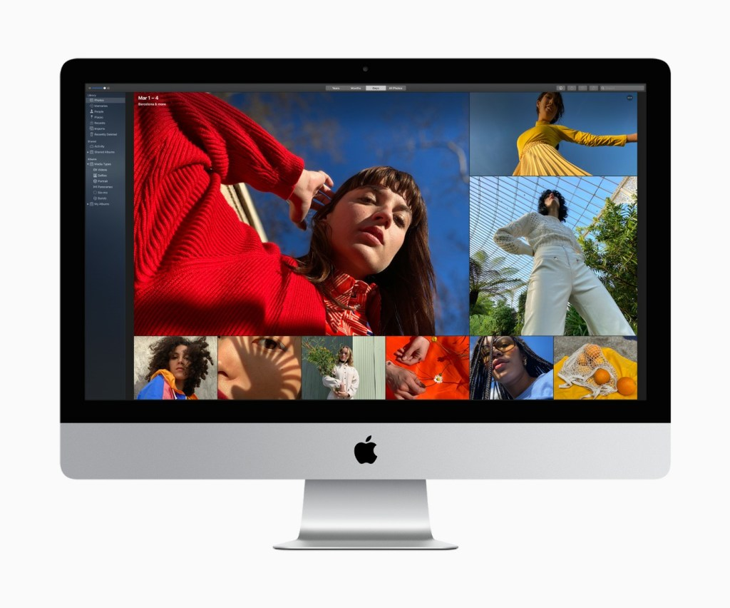 The Nano-texture nano-textured glass panel option brings an innovative matte finish to iMac's 5K Retina display that achieves extremely low reflectivity while maintaining excellent picture quality.