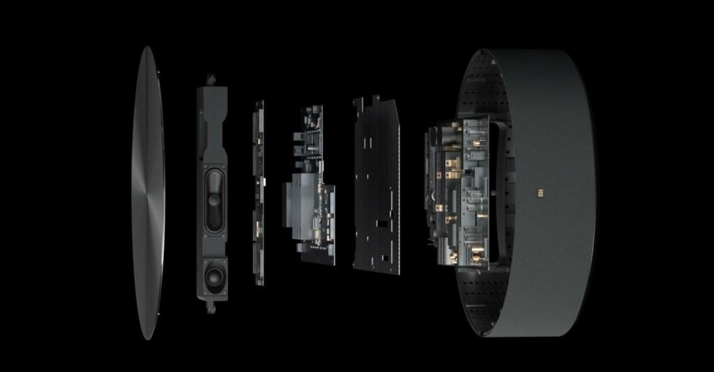 Xiaomi Transparent TV host structure diagram