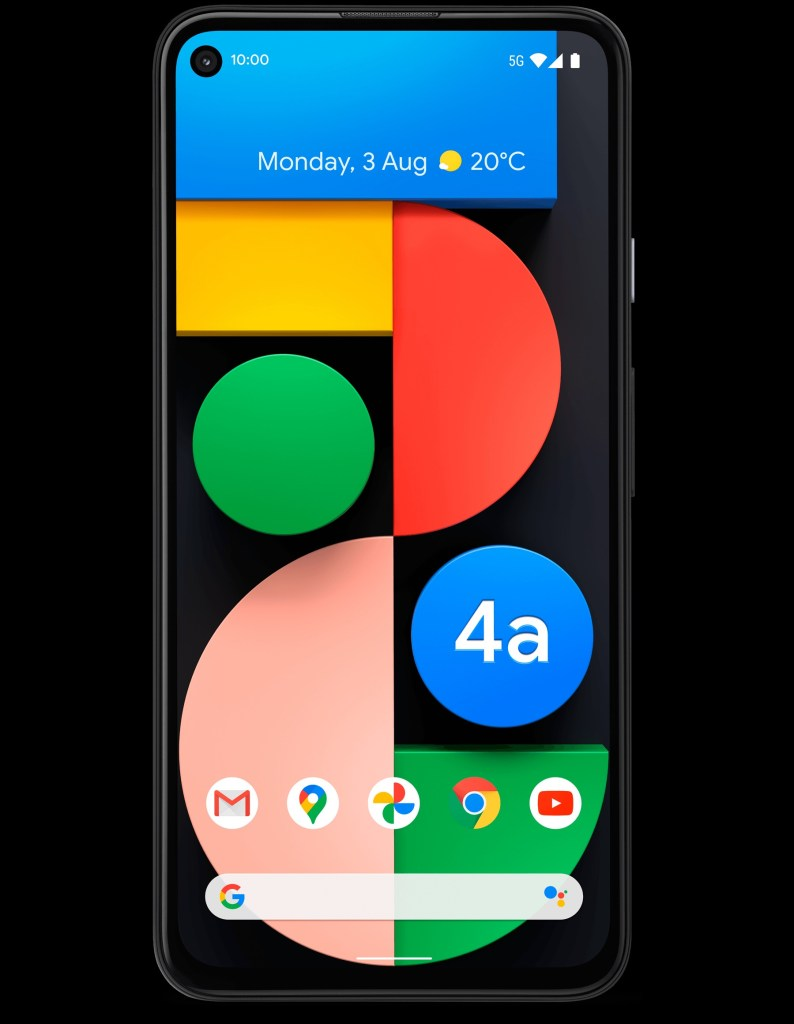 Google Pixel 4a 5G official Rendering