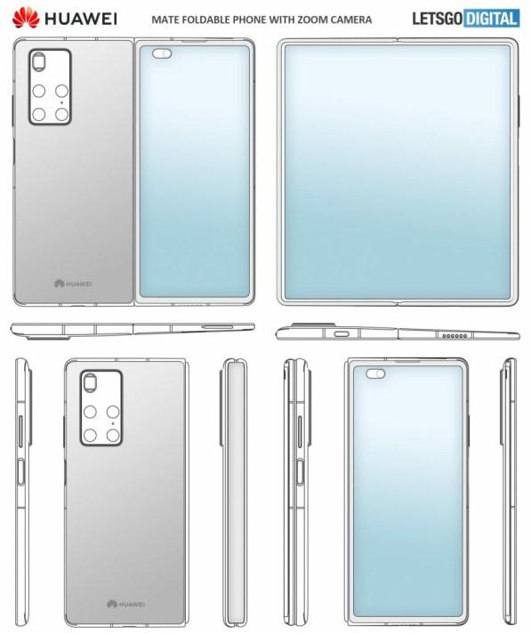 Huawei Mate X2 Patent Rendering