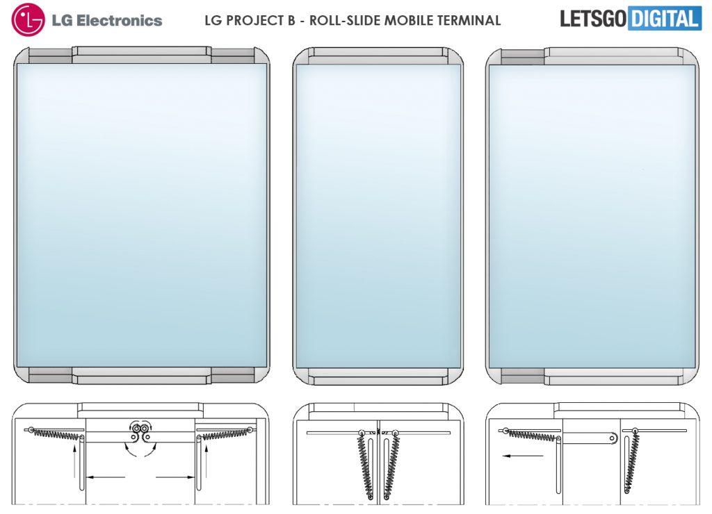 LG Roll-slide Mobile Terminal Patent