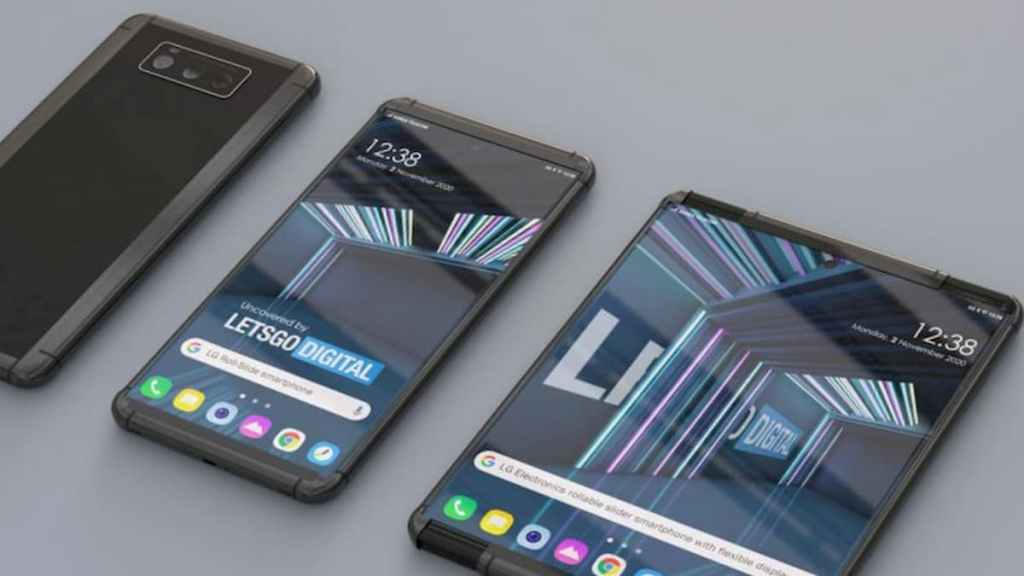 LG Rollable Phone Rendering based on Patent