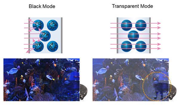 Black Mode Image, Transparent Mode Image