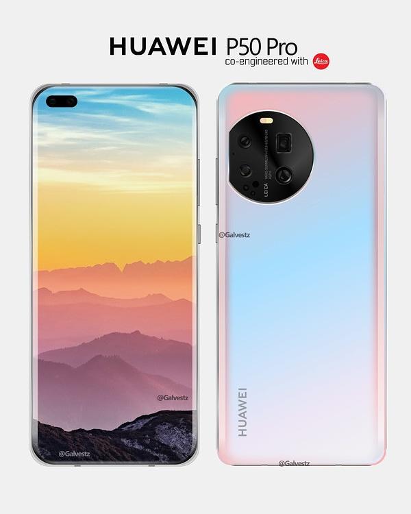 Huawei P50 Pro Rendering
