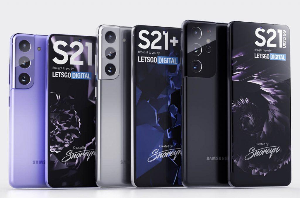 Samsung Galaxy S21 Series Renderings