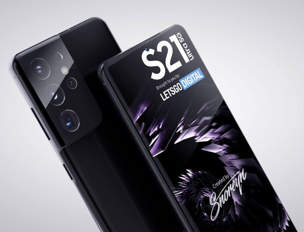 Samsung Galaxy S21 Ultra Renderings
